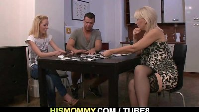 He leaves and naughty mother toying his GF