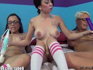 ImmoralLive Teen With Knee Socks Amateur Foursome!