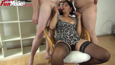 FunMovies German gipsy slut gets fucked by two