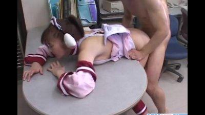 Japanese maid serves the house
