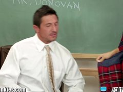 RealityJunkies Slutty Schoolgirl Rides Teacher on Desk
