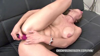 Horny MILF Trixie is fucking her ass with a dildo
