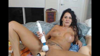 Busty Latina Dildo Fuck Machin
