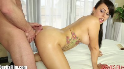 DevilsFilm Horny Babe Shakes Big Ass Until He Blows His Load