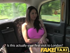 Preview 1 of Faketaxi Sexy American Falls For Old Taxi Trick