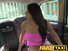 Preview 4 of Faketaxi Sexy American Falls For Old Taxi Trick