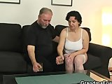 old bitch takes both cocks after pussy toyingPorn Videos