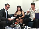 her old fat pussy gets nailed by two cocksPorn Videos