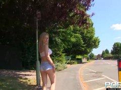 PornXN Big tits barbie doll nude in public
