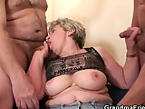 granny takes two cocks after masturbationPorn Videos