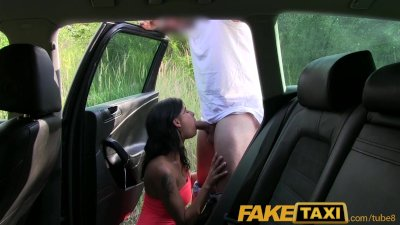 FakeTaxi Busty young girl flashes big tits and gets very wet for taxi drive