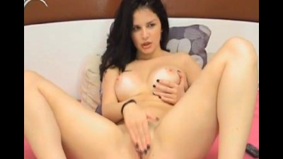 Busty Latina Fingers her Tight