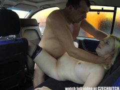 Young Hairy Pregnant Bitch Fucks for CASH