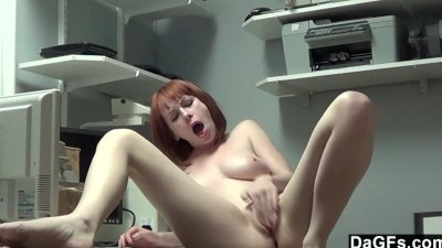 Prettiest Redhead Teen Cums On Her Fingers