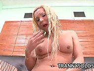 Liz Cordoba: Delicious Tranny Wanking Her Woody