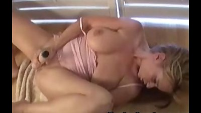 Busty Violet squirts while masturbating her pussy