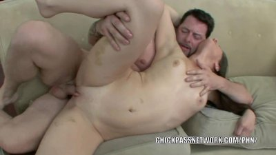 Slutty college girl Kristine Kay gets her pussy pounded