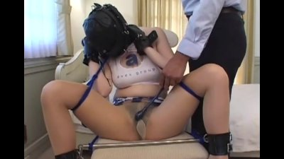 Hooded and tied up and given real orgasms