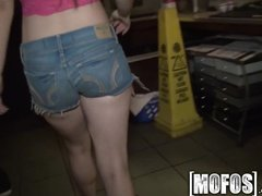 Preview 2 of Mofos - Sexy Barmaid Gets Pounded In The Back Room