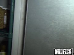 Preview 3 of Mofos - Sexy Barmaid Gets Pounded In The Back Room