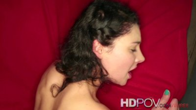 HD POV Sexy horny wet and she wants you to cum inside her shaved pussy