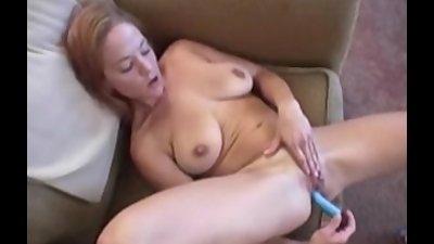 Busty Gabriella masturbates he