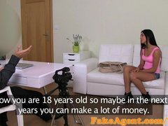 FakeAgent 18 year old babe fucked hard in interview