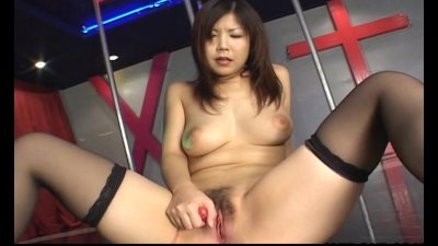 Pretty Asian teen masturbates