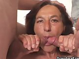 naughty granny swallows two young dicksPorn Videos