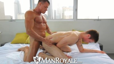 HD - ManRoyale Studs get their big cock oiled up for a hard rub