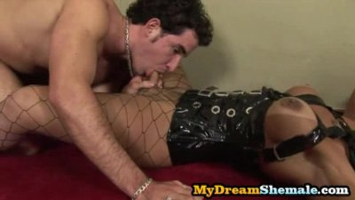 Carla Renata - Shemale Dominatrix Riding Her Slave's Cock