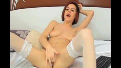Asian Hot Babe Rides her Dildo Good