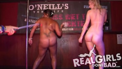 Check out this steamy contest. Two girls own the stage!