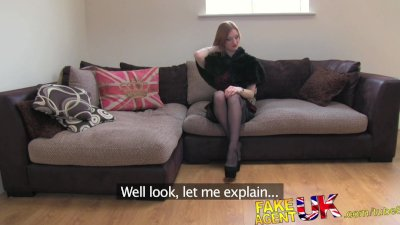 FakeAgentUK Amateur Brit with strong fetish look conned into sex casting