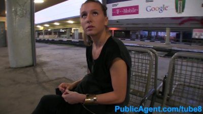 PublicAgent Blonde takes it from behind in public