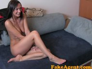 FakeAgent Tanned pole dancing MILF is looking for porn career