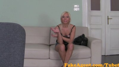 FakeAgent Saucy Blonde amateur can't wait for huge cock up her ass