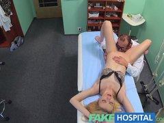 FakeHospital Doctors oral massage gives skinny blonde her first orgasm