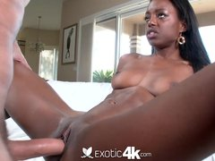 4K HD   Exotic4k Ebony Tiffany Taylor loves big white cock