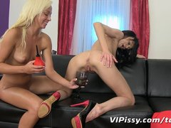 Preview 7 of Lesbian Lovers Fill Every Hole With Hot Piss