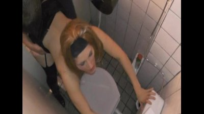 Young wife gangbanged by strangers at a public restroom