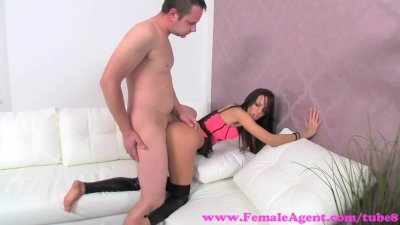 FemaleAgent. Sexy agents asshole licked and her perfect pussy fucked