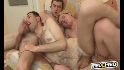Gay Holding Two Cocks And Cum Felching
