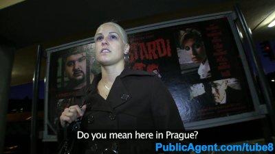 PublicAgent Blonde sucks and fucks on public train