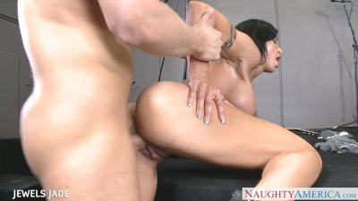 Firm bodied Jewels Jade gets facialized