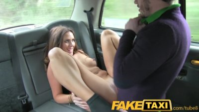 FakeTaxi Couple fuck in back of taxi