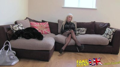 FakeAgentUK Casting couch sees British glamour model try some anal sex