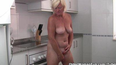 Grandma wears see through whit