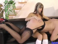 Lesbo/in by teen spanked lingerie