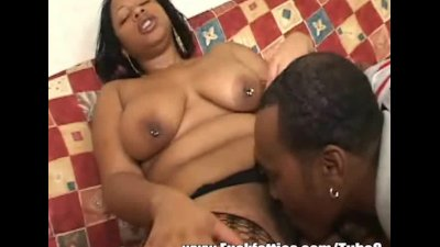 Hot ebony BBW girlfriend fucked by a big black meaty cock